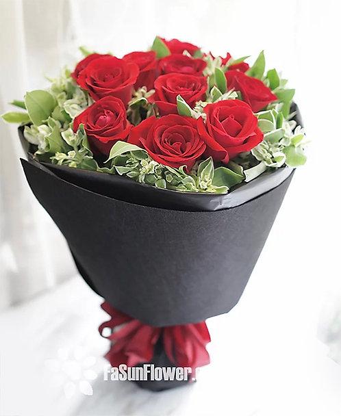 情人節經典玫瑰花束 12 Red Roses Classic Bouquet VDRERD12B