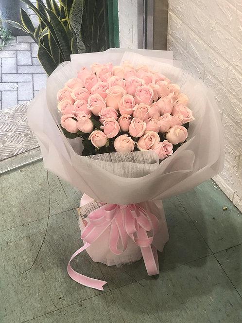 51枝雪山粉玫瑰求婚花束  51 Roses bouquet  PP-WH51