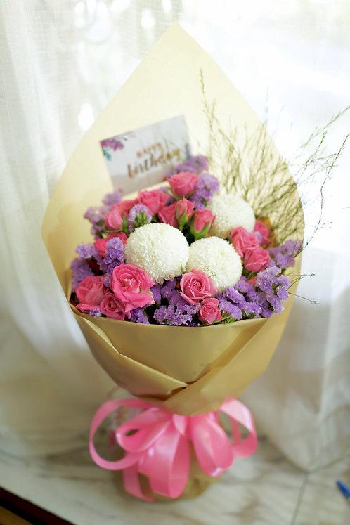 乒乓菊可愛小花束 Korean Style bouquet KKB02