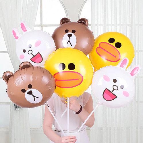 Line characters helium balloon 鋁膜氣球