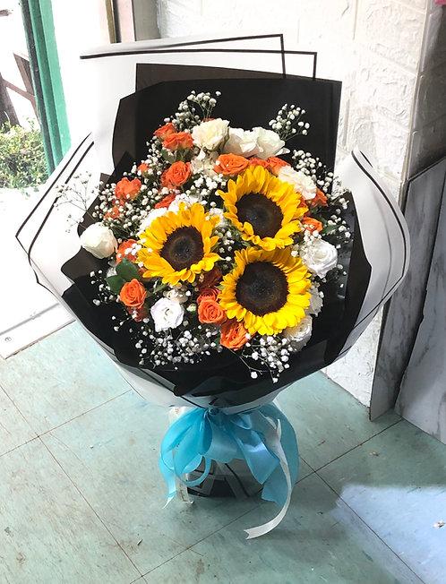 向日葵韓式花束 Korean Style Sunflower Bouquet KSSFB1