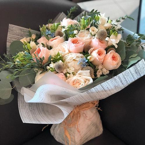 (必須預訂)Garden Roses Bouquet 庭園玫瑰花束 BQ-GJFGDESE