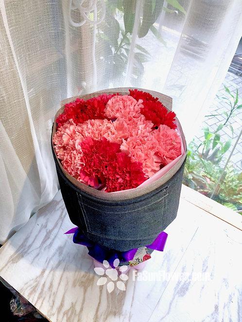 16枝粉康乃馨花束 16 Carnation Bouquet CNARP161