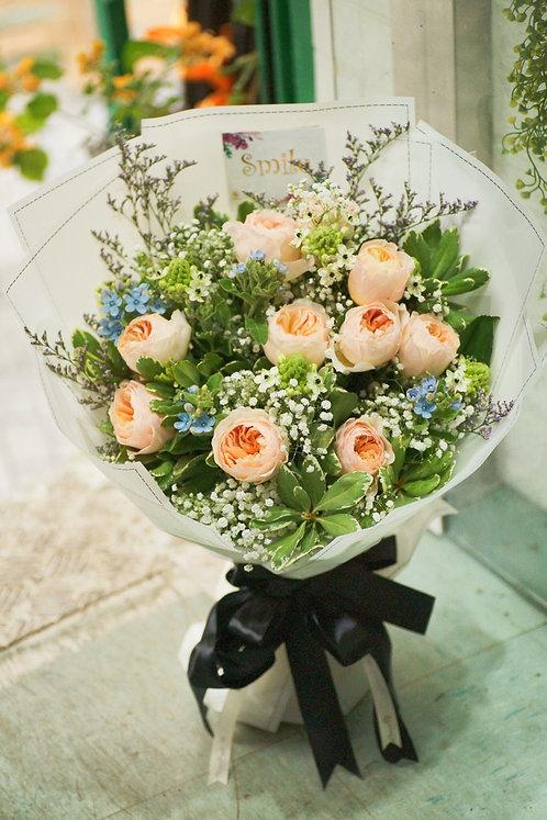 (必需預訂) Garden Rose Juliet Bouquet 朱麗葉玫瑰花束 JLBSB10