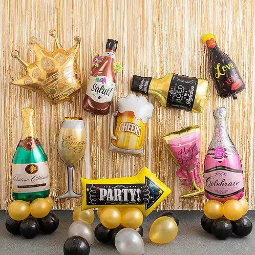 香檳鋁膜氣球(多款可選)
