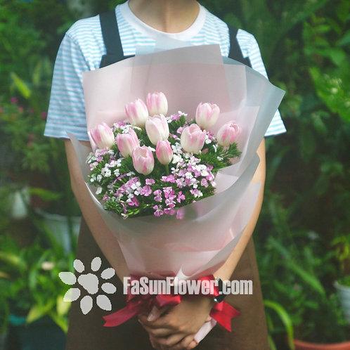 10枝鬱金香花束 Tulip Bouquet TU10(必須預定)
