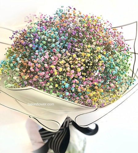 七彩滿天星大花束 Colorful Baby Breath bouquet CFBB01