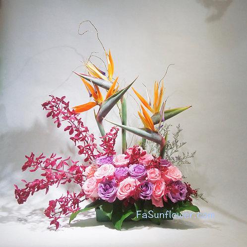 座枱鮮花擺設 Table Floral TT-STRO-LH-01