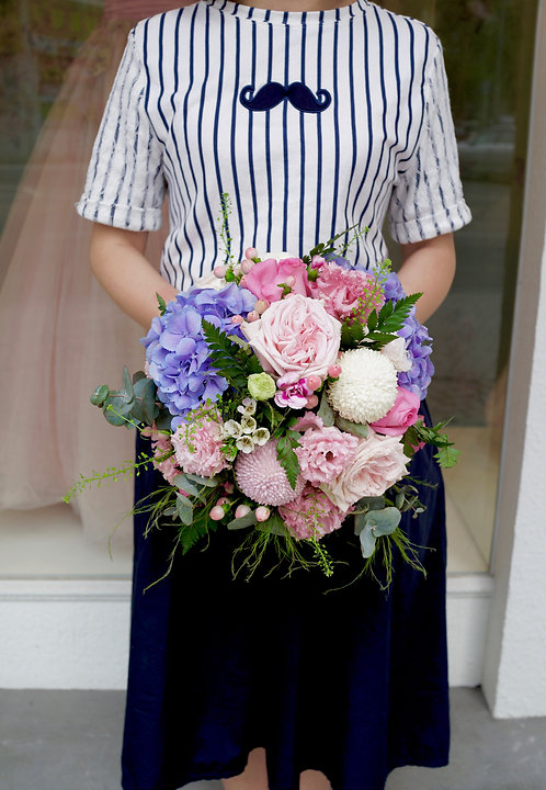 (B) Bridal and Ceremony Bouquet With Corsage Set 鮮花花球套餐 B