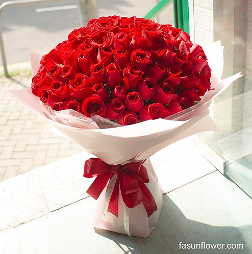 99/108 玫瑰花束(淺色花紙) Roses Bouquet  RE-LT99