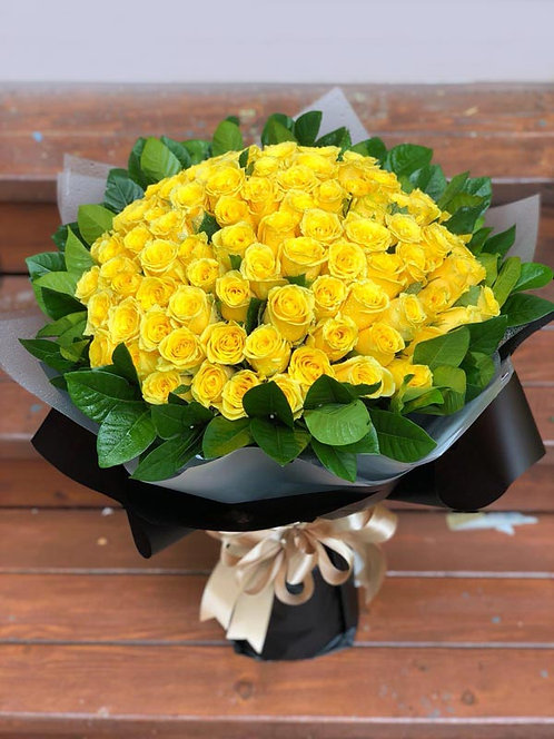 99/108 黃色玫瑰花束 Yellow Rose Bouquet YE-BK99L