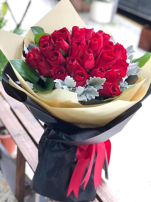情人節30枝紅玫瑰花束 Roses Bouquet VD-REBY30