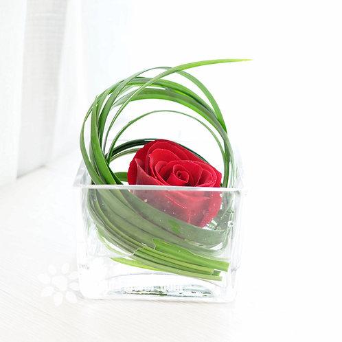 紅玫座枱鮮花擺設 Red Rose Of One TW-RO-SA-01