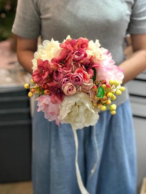 絲花花球 silk flower bouquet 01