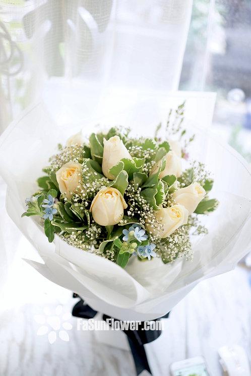 香檳色玫瑰花束 Champagne Rose bouquet CPBS10