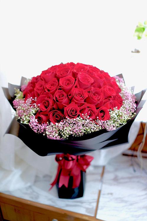51枝紅玫瑰求婚花束 51 Roses bouquet RE-BK51PB
