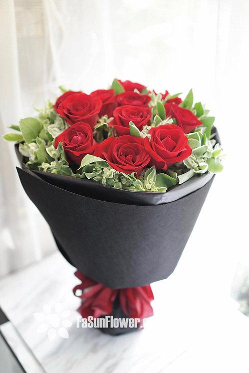 12枝紅玫瑰花束 12 Red Roses Classic Bouquet RERD12B