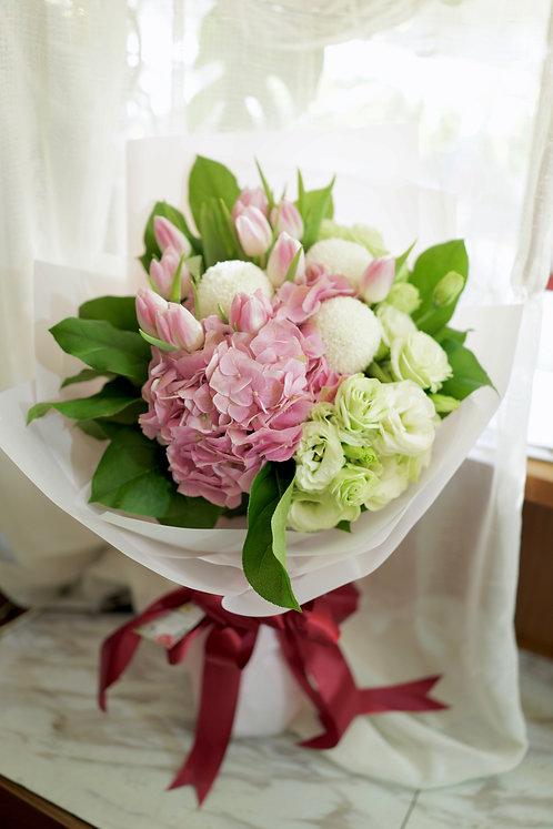 鬱金香繡球花束 Tulip Hydrangea Bouquet PKTUHY10