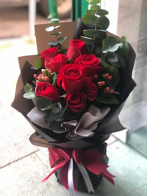 6枝紅玫瑰花束 Red rose bouquet MIRED6