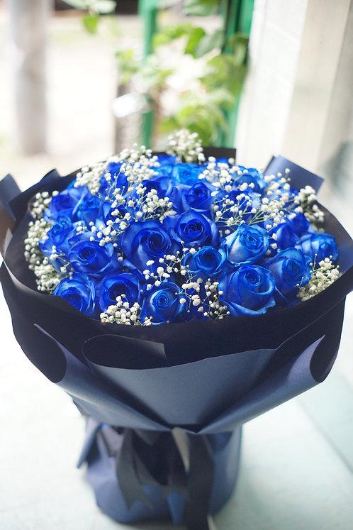 (必需預訂) Blue Rose Bouquet 藍玫瑰花束 BU-KSBK51SB