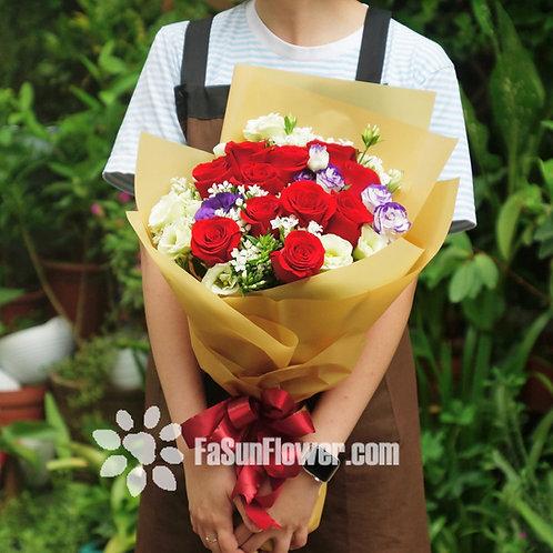 十一枝紅玫瑰花束 11 Red Roses bouquet RDRE111