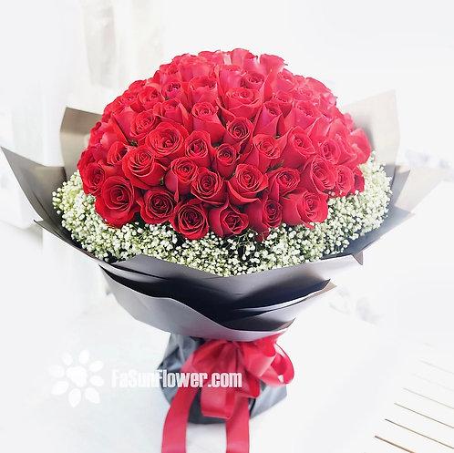 情人節皇牌精選 99 玫瑰滿天星花束 Roses Bouquet RE-BK99B(VD)