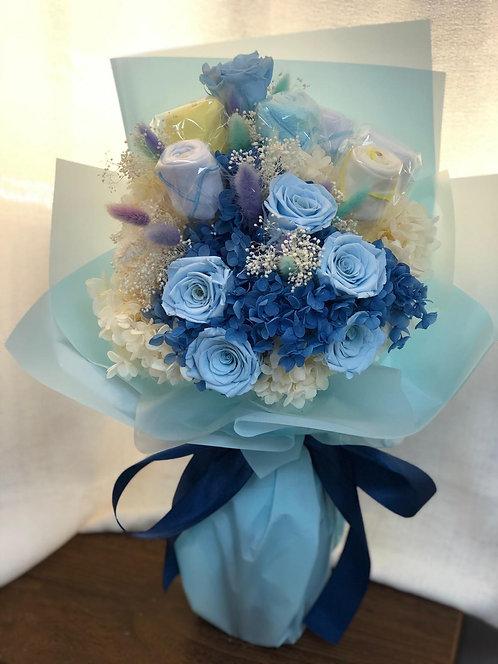 初生嬰兒保鮮花花束 New Born Baby Preserved Flower Bouquet NBB-BQ