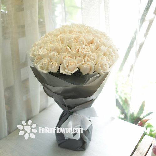 99/108 白玫瑰花束 White Rose Bouquet WH-TRGY99