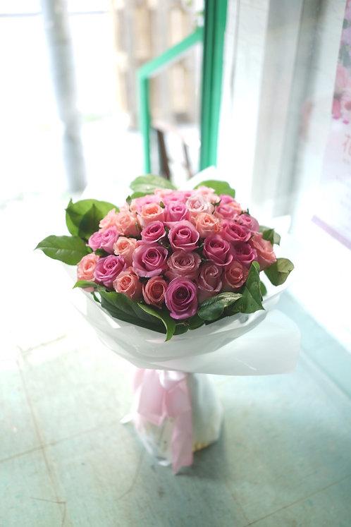 38支玫瑰花束 Roses bouquet LPDP-WH38L