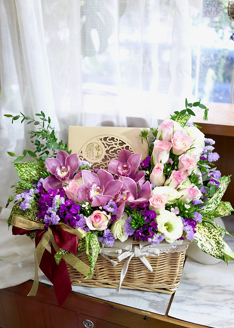 中秋節花禮套裝 Flowers Hamper LUNAR-FOM3