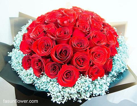 51枝紅玫瑰求婚花束 51 Roses bouquet RE-BK51BB