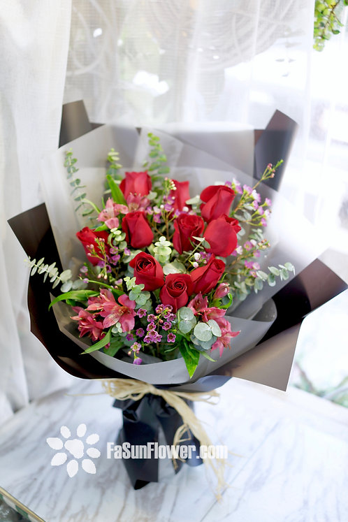 韓式玫瑰花束 Korean Style Red Roses Bouquet KSRB10