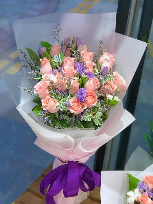 18枝粉玫瑰浪漫花束 REPP18