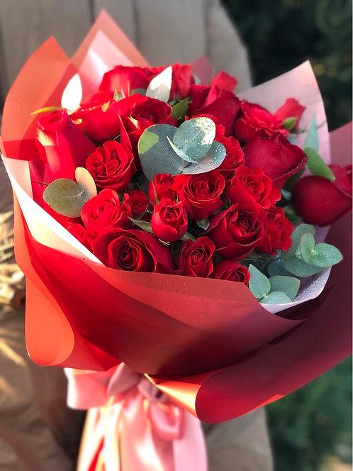 情人節10支玫瑰花束 10 Red Roses Bouquet VD-RE10R