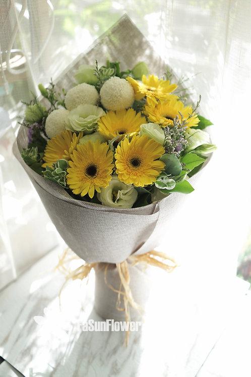 6 Gerbera Garden Style Bouquet 太陽花花束 GE608