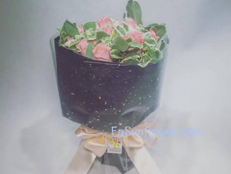 簡簡單單的花束,祝收到既妳生日快樂