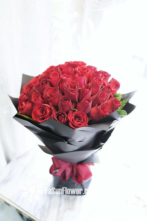 51枝紅玫瑰求婚花束 51 roses bouquet RE-BK51