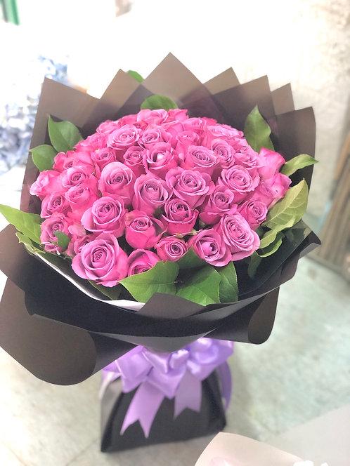 51枝紫玫瑰求婚花束 (必須預訂)51 roses bouquet PU-BK51