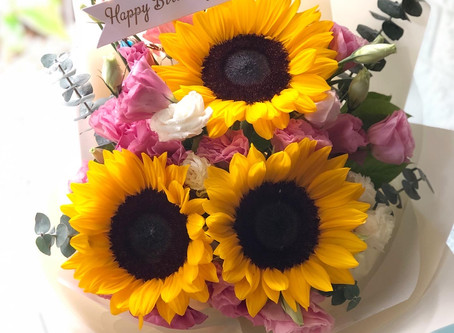 FASUNFLOWER 生日大滿足 Birthday Bouquet 之選 購買任何生日花束仲可免費加配生日小燈牌[優惠期至 2020 年 9月 30 日]