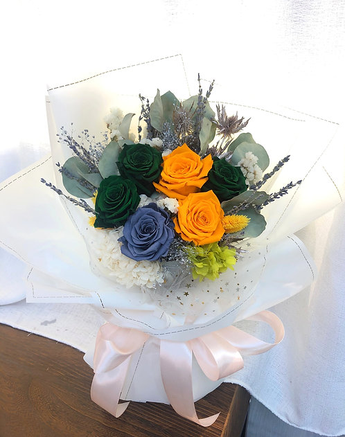 Forever Love Bouquet -Green and Yellow
