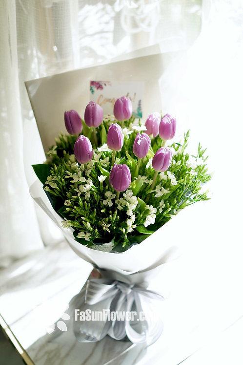 10枝鬱金香花束 10 Tulipa bouquet PUTU102