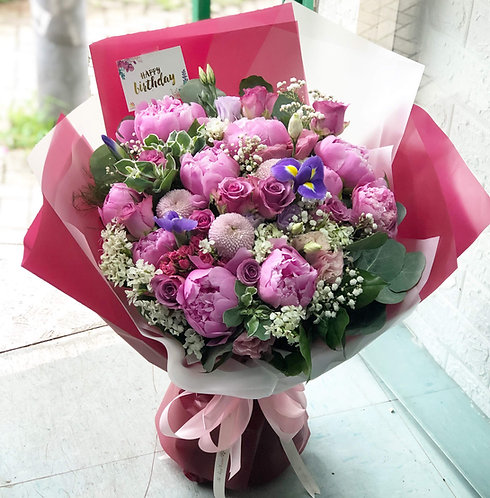 牡丹花束 Peony bouquet PN10 (需先向我們查詢)