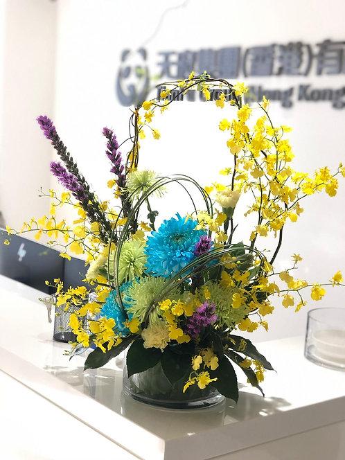 座枱鮮花擺設 Table Floral TT-CR-BUGR-01