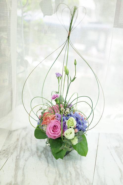 繡球造型鮮花擺設 Hydrangea Flower Decorate