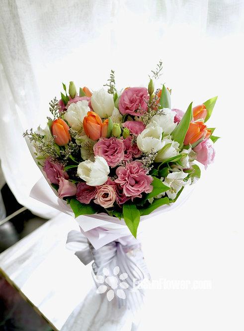 20枝鬱金香花束 Tulip Bouquet ORWHTU20