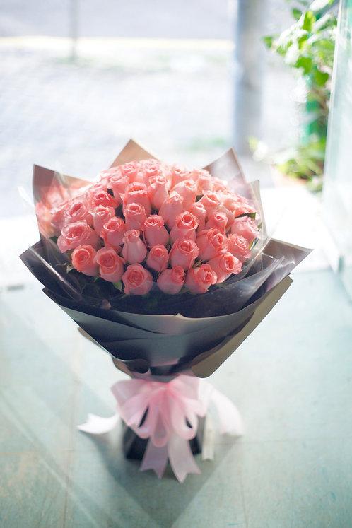 51枝粉玫瑰花束 Pink Rose bouquet PK-GY51