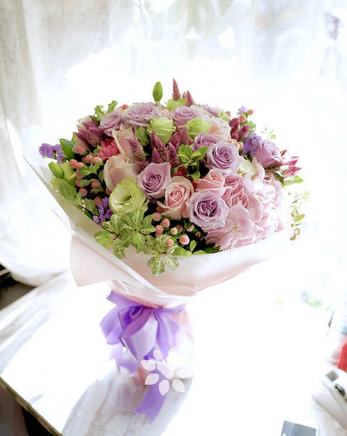 Double Hydrangea Garden Style Large Bouquet PHY2PPOS20