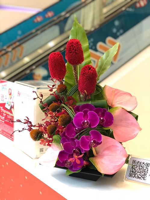 座枱鮮花擺設 Table Floral TT-OR-FG-01