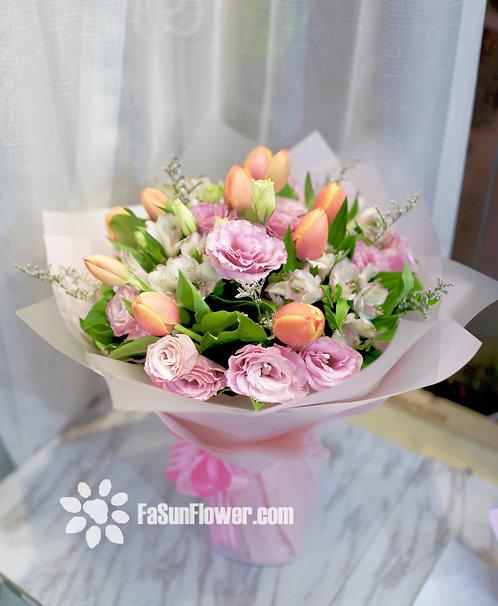 10枝鬱金香花束 Tulip Bouquet ORTU10(必須預定)