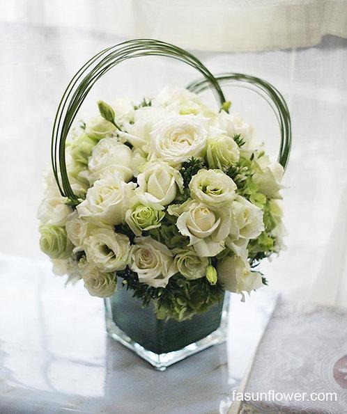 座台鮮花擺設 Table Floral TT-RO-SA-01